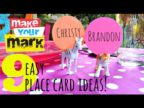 How to: 9 Easy Place Card DIYs