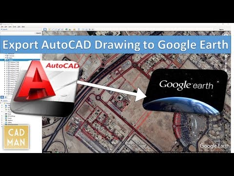 Export AutoCAD Drawing to Google Earth