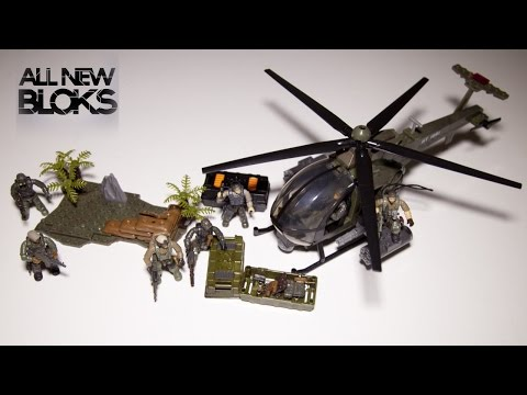 Mega Bloks Call of Duty Chopper Strike with Jungle Troopers Speed Build Review
