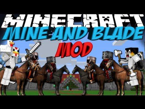 Total War Mod: Minecraft Mine and Blade Commander Mod Showcase!