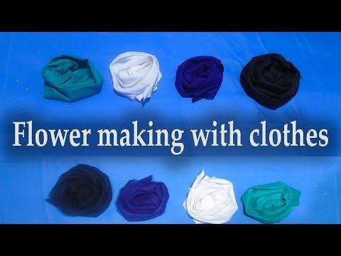 How to make craft flowers rose at home | Handcraft using Dropped Clothes | Flower making tutorial