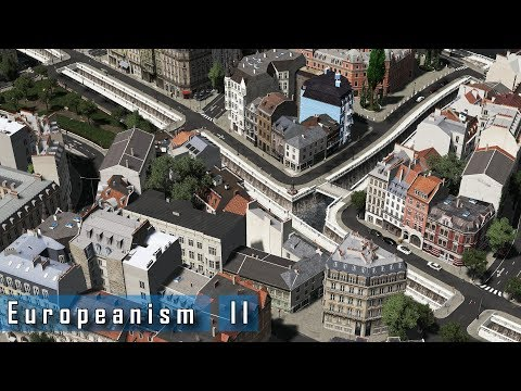 Cities: Skylines - E u r o p e a n i s m : II - Narrow inner-city canals