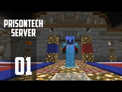 Minecraft Prison - Ep 1:  ITS HERE! (PrisonTech Let's Play) #sponsored