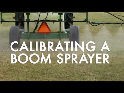 How to Calibrate a Boom Sprayer: 1/128 of an acre method