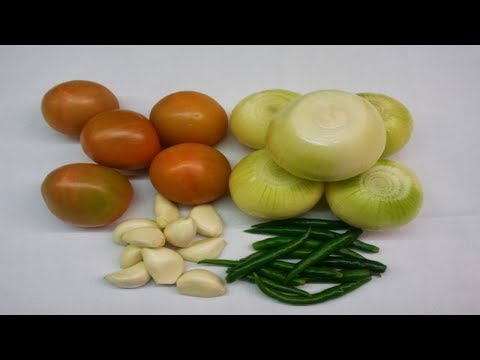 How to make Tomato and Onion Chutney-Indian restaurant cooking