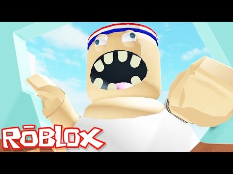 Roblox Adventures / Escape the Gym Obby / Escaping the Giant Evil Fat Guy!