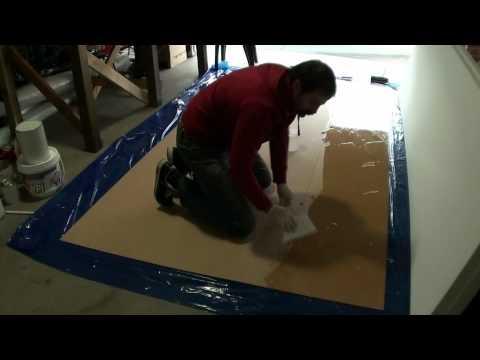 Sandwich benchtop - MDF board and dense polystyrene foam - bonding - Part 1
