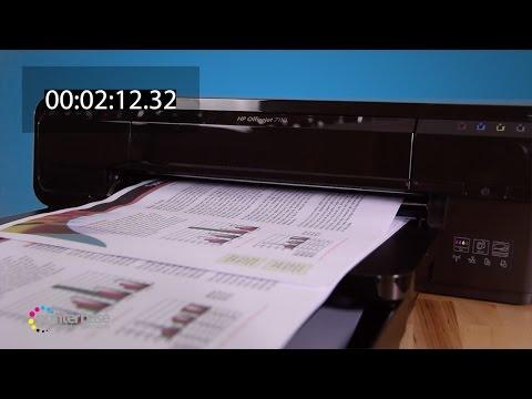 HP OfficeJet 7110 Colour Inkjet Printer Demonstration | printerbase.co.uk