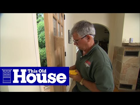 How to Hang a New Front Door in an Existing Frame - This Old House