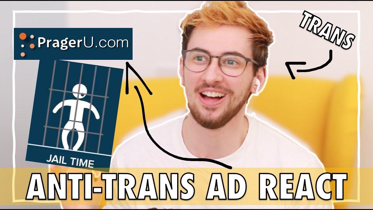 Trans Guy Reacting to Anti-Trans Advert | PragerU