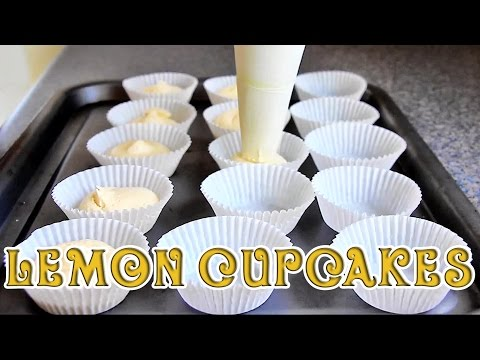 How to make Super Easy Lemon Cupcakes | HappyFoods