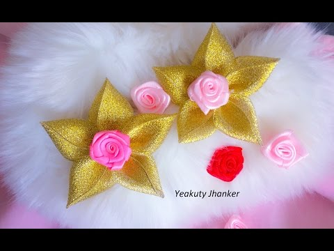Kanzashi ribbon flower-- Brooch or hair clip (Mother's day special)