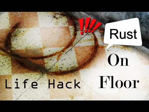 How to Remove Rust From Floor - Tip