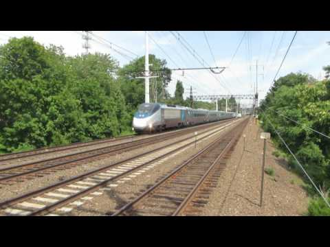 Amtrak Acela action in Westport, Connecticut