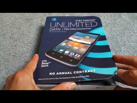Unboxing Latest New ZTE Blade Spark 4G LTE AT&T Go Phone Smartphone 2017
