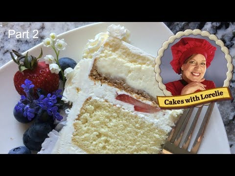 Cheesecake Wedding Cake Tutorial / Filling and Frosting