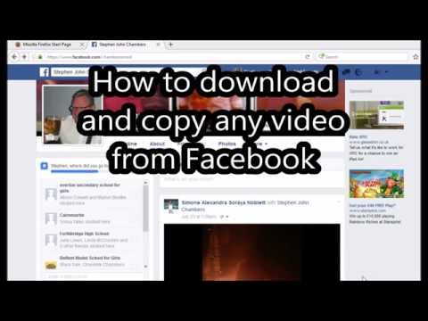How to copy & download any video from Facebook