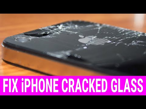 How to fix iPhone 4S / 4 Cracked Back Glass - How to take iPhone back off!