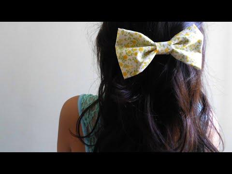 DIY - Fabric hair bow. NO SEW!