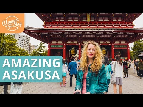 AMAZING ASAKUSA - SENSOJI TEMPLE, NAKAMISE SHOPPING STREET & ASAHI SKY ROOM IN TOKYO, JAPAN 浅草 浅草寺
