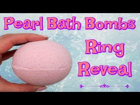 Pearl Bath Bombs Ring Reveal - Strawberries & Champagne Bath Bomb!