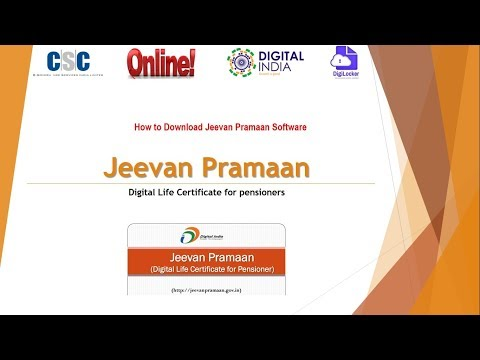 How to download Jeevan Praman Software for Issue Digital Life certificate for pensioner