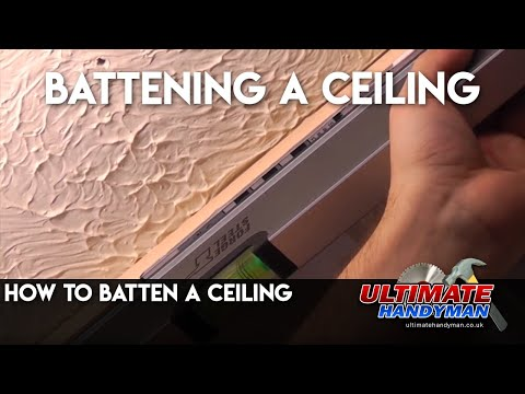 How to batten a ceiling
