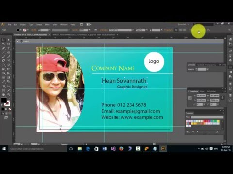 how to design name card
