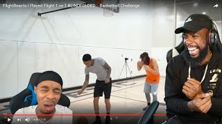 FLIGHT ANGRY WITH HIMSELF! HE PLAYED JESSER BLINDFOLDED 1vs1 BASKETBALL!
