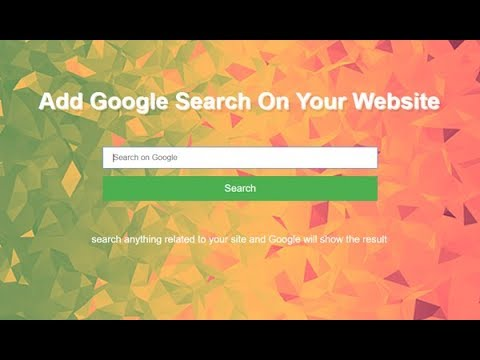 How To Add Google Search Bar On Website,Custom Google Search For Website, Google Search Into Website