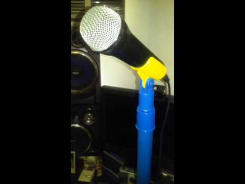 Kids mic stand for making YouTube videos