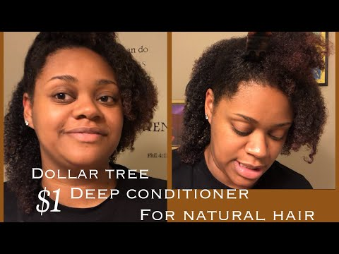 Dollar Tree Deep Conditioner for Natural Hair | Coconut Oil Deep Conditioner