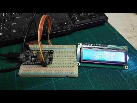 วิธีการดึงค่าเวลาจากอินเตอร์เน็ท NTP Time Server with NodeMCU ESP8266 พร้อมโค๊ดและไลบลารี่