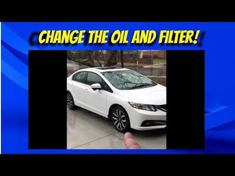 2014 Honda Civic EX-L oil and filter change