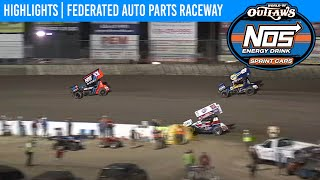 World of Outlaws NOS Energy Drink Sprint Cars Federated Auto Parts Raceway Aug. 7, 2020 | HIGHLIGHTS