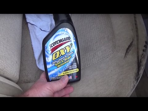 How to remove grease from car upholstery