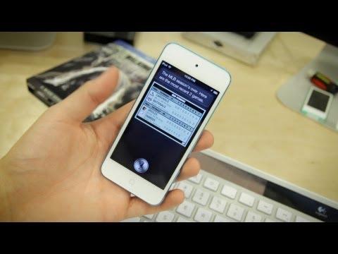iPod Touch (5th Generation) Siri Demo! (2012)