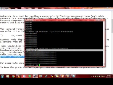 Dmidecode- Extract hardware information on linux