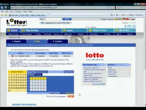 Check Lottery Tickets Online