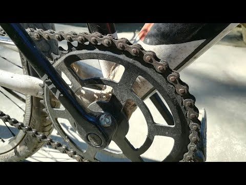 old rusty chain cleaning