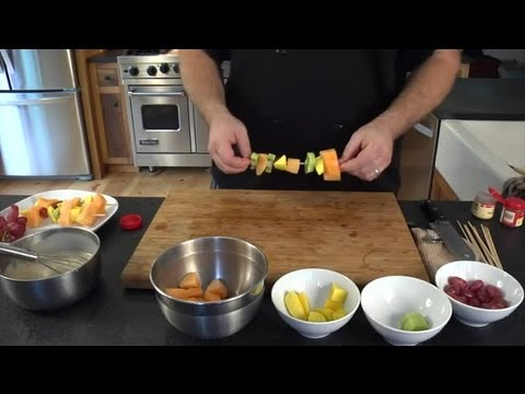 Fruit Skewers With a Yogurt Dipping Sauce : Fun With Food