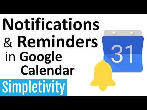 Notifications & Reminders in Google Calendar