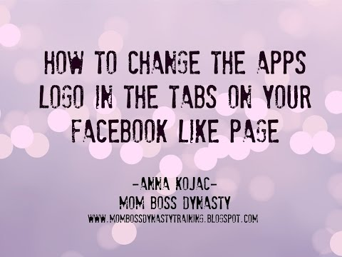 How To Change the Apps Tabs Icons on Your Facebook Like Page
