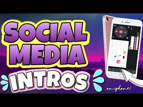 HOW TO MAKE A SOCIAL MEDIA INTRO ON IPHONE! | 2019