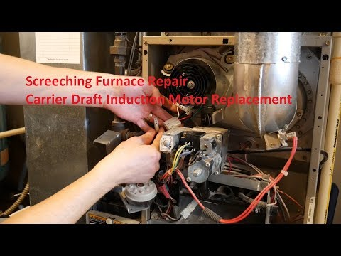 Screeching Furnace Repair - Carrier Draft Inducer Motor Replacement in 4K
