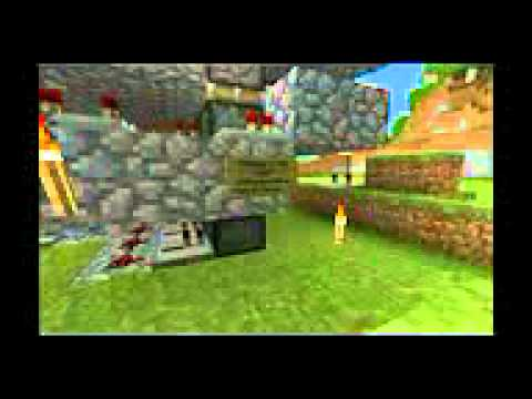 NEWEST Minecraft 4x4 portcullis - 4 High Retraction\Extension Part 2