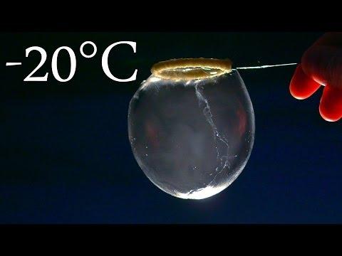 Instant Freeze Giant Bubbles