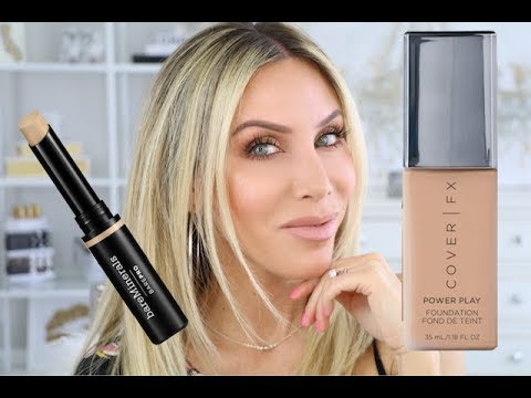 2 in 1 Review! Cover FX Power Play Foundation + Bare Minerals Bare Pro 16 Hr Concealer