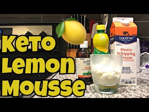 Keto Lemon Mousse | Easy 5 Minute, No Bake Dessert! | SO GOOD!