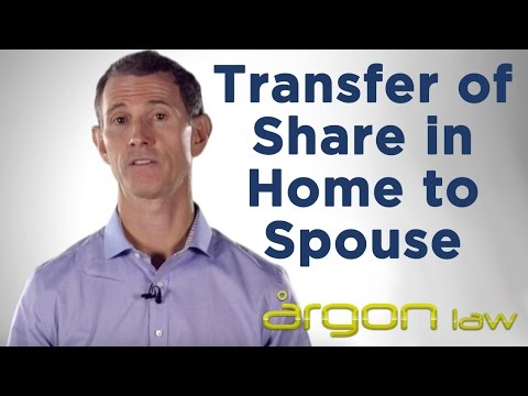 Transfer of Share in Home to Spouse | Advice from a Sunshine Coast Lawyer | Argon Law